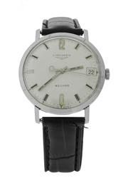 Sale 8406A - Lot 54 - Vintage Longines Record wristwatch with date, circa 1950-1960s, stainless steel, hand winding, calibre 651, 33 mm, in working order