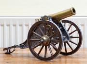 Sale 8677B - Lot 514 - A replica scale model of a horse drawn canon marked Motero 1895 Length 38cm