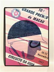 Sale 8725 - Lot 14 - Vintage Racing Poster