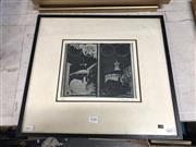 Sale 8861 - Lot 2058 - Earle I. Backen Cell Block, East Sydney Tech, 1974 aquatint ed. 91/100, 41 x 45cm