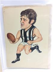 Sale 8863S - Lot 13 - Wayne Richardson, Collingwood. Played 277 games for Collingwood, scoring 323 goals between 1966 and 1978. Captain of Collingwood 197...