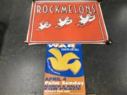 Sale 8953 - Lot 2082 - A Rockamelon Poster together with a Political Poster - War Costs Us All, Sydney Peace and Justice Coalition
