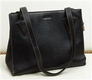 Sale 9081H - Lot 44 - A black Loewe shoulder bag with magnetic clasp and tan stitching, 30cm x 23cm