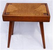 Sale 8319 - Lot 7 - 1950s Swedish stool with Rush seat