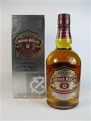 Sale 8335W - Lot 610 - 1x Chivas Regal 12YO Blended Scotch Whisky - 40% ABV, 700ml in box