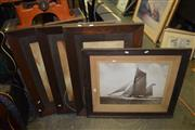 Sale 8419T - Lot 2044 - Group of Assorted Decorative Prints including prints after Elmer Keene (3) and Sailing Yacht (1)