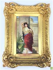 Sale 8589R - Lot 44 - Handpainted KPM Plaque Signed R. Dietrich (Frame: 52 x 38cm)