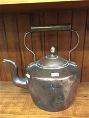 Sale 8714 - Lot 1038 - Large Brass & Copper Kettle, with acorn finial