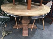 Sale 8822 - Lot 1773 - Oak Parquetry Round Top Supper Table (D: 120cm)