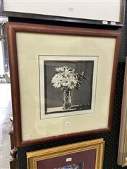 Sale 8888 - Lot 2002 - David Preston Daisies in the Sun 1992 aquatint ed. 2/99, 50 x 48cm (frame), signed