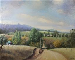 Sale 9143A - Lot 5022 - JOHN VANDER (1947 - ) - Australian Landscape, near Canberra 59.5 x 75 cm (frame: 81 x 95 x 5 cm)