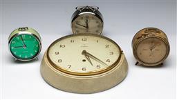 Sale 9156 - Lot 40 - A collection of vintage clocks inc Junghans