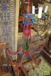 Sale 8352 - Lot 1056 - Coloured Plastic Chandelier