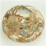 Sale 8393B - Lot 55 - Meiji Satsuma Lidded Bowl