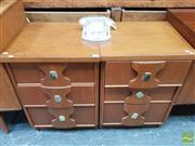 Sale 8435 - Lot 1039 - Pair of Australian Teak Bedsides