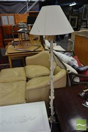Sale 8515 - Lot 1096 - Metal Floral Standard Lamp