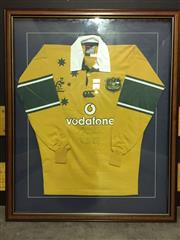 Sale 8662 - Lot 55 - Framed Signed Wallabies Jersey
