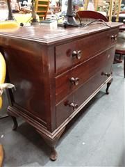 Sale 8680 - Lot 1097 - Timber 3 Drawer Dresser Base