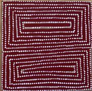 Sale 8510A - Lot 77 - Warlimpirrnga Tjapaltjarri, c1958 -  Kiwirrkura, 62.01-WAR.T-35.35-9001 Dot painting, stretched on canvas, 35 x 35cm