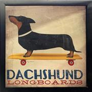 Sale 8853 - Lot 2019 - Dachshund Longboard Framed Poster