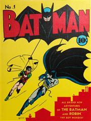 Sale 9090 - Lot 33 - A Batman advertising print on canvas (55.5cm x 42cm)
