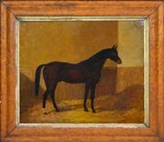Sale 8358 - Lot 582 - Frederick Woodhouse (1820 - 1909) - Chestnut Horse, 1865 43 x 52cm
