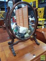 Sale 8455 - Lot 1057 - Oval Toilet Mirror