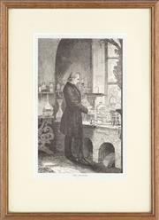 Sale 8595 - Lot 2054 - Antique Print of The Chemist, 19 x 12cm