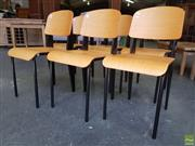 Sale 8601 - Lot 1129 - Set of Six Timber & Metal Chairs