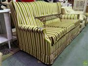Sale 8629 - Lot 1037 - Vintage 1950s Green and White Striped Sofa