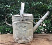 Sale 8772A - Lot 77 - A Galvanised Water Can General Wear Marks , Some Denting, Size 39cm H With Handle