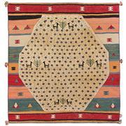 Sale 8830C - Lot 46 - A Persian Vintage Tribal Gabbeh in Handspun Wool 192x180 cm