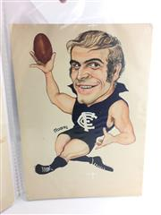 Sale 8863S - Lot 15 - Alex Jesaulenko, Carlton. Played 256 games for Carlton, scoring 424 goals between 1967 and 1979, winning Premierships with them in 1...
