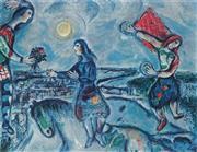 Sale 9042A - Lot 5011 - Marc Chagall (1887 - 1985) - Lovers Over Paris 63 x 90 cm (frame: 87 x 113 x 3 cm)