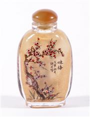 Sale 9010D - Lot 720 - A Chinese Glass Snuff Bottle H:8cm