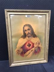 Sale 9053 - Lot 2037 - Decorative Print of Jesus. frame: 81 x 61 cm