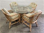 Sale 9063 - Lot 1081 - Cane 5 Piece Outdoor Suite (h:76 x d:118cm)