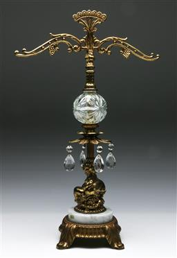Sale 9144 - Lot 38 - Italian made brass & marble stand (H: 50cm)