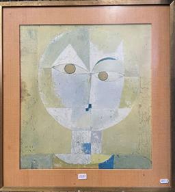 Sale 9139 - Lot 2072 - Vintage Paul Klee Decorative Print, 56 x 52cm -