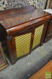 Sale 8335 - Lot 1060 - Regency Rosewood Chiffonier, with cushion shaped drawer & two brass grill doors with attached pilasters