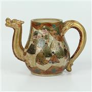 Sale 8412A - Lot 4 - Satsuma Teapot height - 20cm