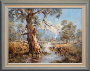 Sale 8420 - Lot 508 - Bill Ambagtsheer (1944 - ) - Wilpena Creek, South Australia 45 x 60cm