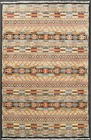 Sale 8518A - Lot 29 - Indian Chobi rug with overall geometric pattern, 121 x 182cm, ex Cadrys