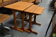 Sale 8528 - Lot 1024 - G-Plan Nest of Three Tables