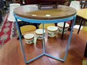 Sale 8629 - Lot 1084 - Modern Metal Framed Side Table