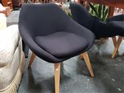 Sale 8669 - Lot 1019 - Set of 4 Modern Upholstered Tub Chairs