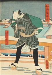 Sale 8777A - Lot 5025 - Toyokuni Utagawa III (1786 - 1865) - 36 x 24cm (frame: 53 x 42cm)