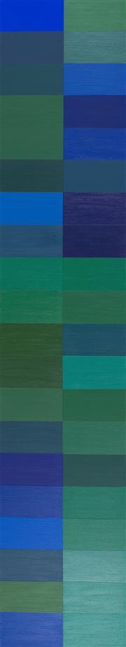 Sale 8787A - Lot 5048 - Claudia Abrahams - 40 Shades of Ocean, 2014 100 x 20cm