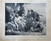 Sale 8791A - Lot 5079 - Antoine Maurin (1793-1860) - Les Enfans Des Jacob (after John Duval), 1843 40 x 50cm
