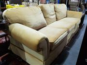 Sale 8826 - Lot 1080 - Yellow Upholstered Three Seater Sofa